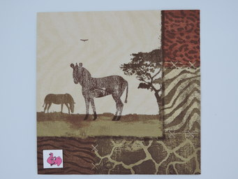 Napkin zebra collage 20x12